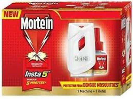 Picture of Mortein FASTER DENGUE PROTECTION insta Works IN 5 MINUTEs 1 MACHINE & 1 Liquid REFILL(45ml) box