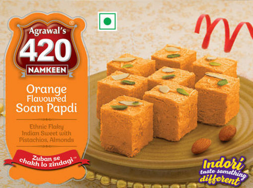 Picture of Agrawal's  Orange Soan Papdi (200g)