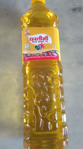 Picture of Dharti Maa Non refined Cold Pressed Moongphali / Groundnut / Peanut Oil (910g) (1L) Bottle
