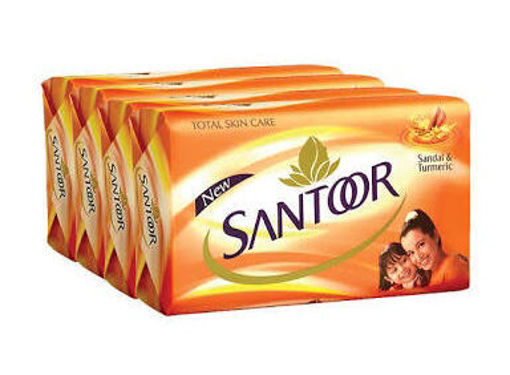 Picture of Santoor Soap 4X75g = 300g (Pack OF 4Pc)