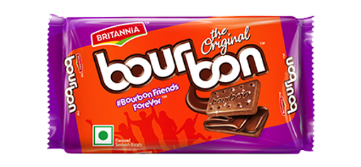 Picture of BRITANNIA Bourbon Cream Biscuit Chocolate Flavor (60g)