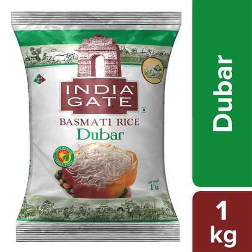 Picture of INDIA GATE BASMATI RICE Dubar (1kg) Packet