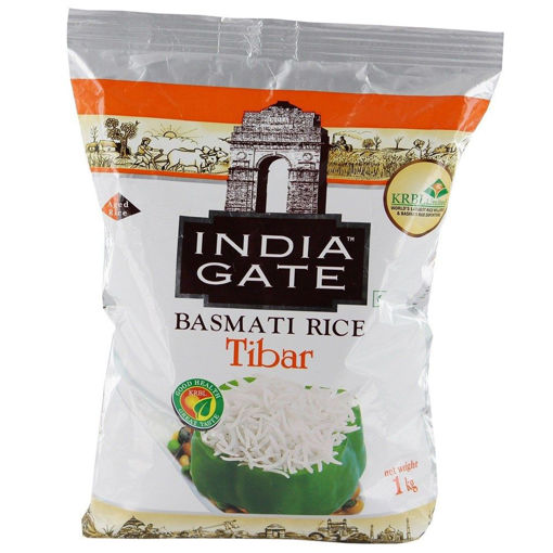 Picture of INDIA GATE BASMATI RICE Tibar (1kg) Packet
