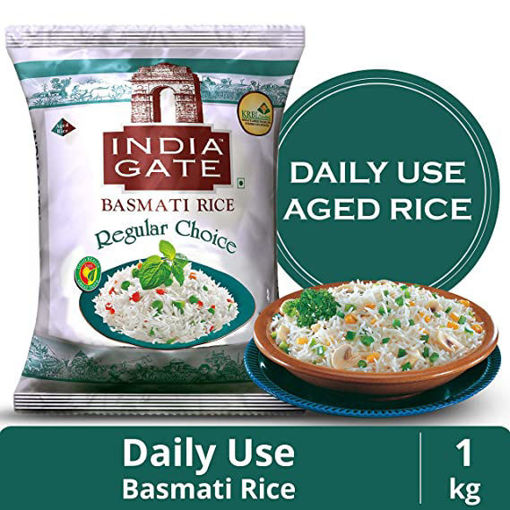 Picture of INDIA GATE BASMATI RICE Regular Choice (1kg) Packet
