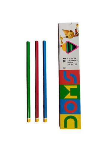 Picture of Doms Y1 Extreme Dark Triangle Pencil (Pack of 10 Pencils)