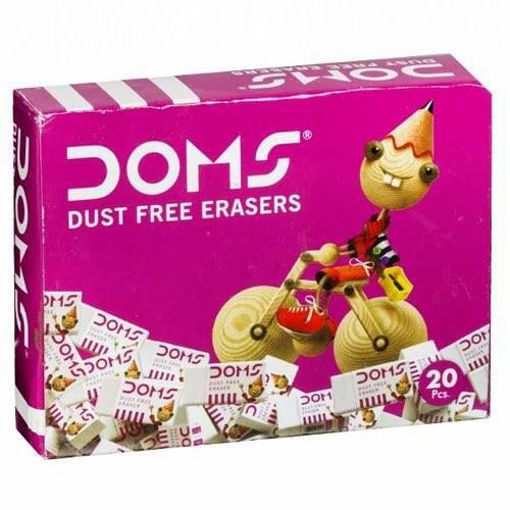 Picture of DOMS ERASERS BOX (Pack Of 20Pc)