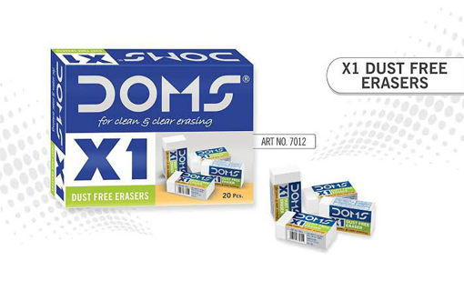 Picture of Doms X1 Dust Free Eraser-(Pack Of 20 Pieces)