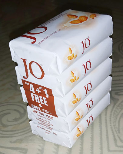 Picture of Jo Soap Almond and Cream - 48gX5 = 240g (Pack of 5)