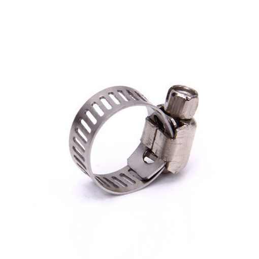 Picture of Adjustable Fuel Petrol, Gas, Water Pipe Hose Clips Stainless Spring Clamp