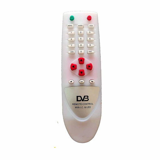 Picture of Botech Unbreakable Remote DD Free Dish-DVB DTH Box (White) With battery