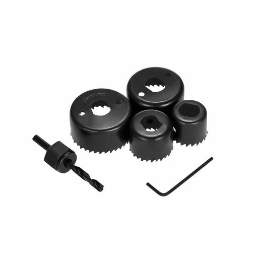Picture of 6Pc Hole Saw Set Drill Bit Cutting Cutter Round Circular 32Mm/38Mm/44Mm/54Mm New