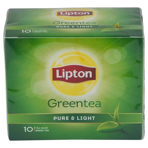 Picture of Lipton Pure & Light Green Tea Bags 10 Pieces