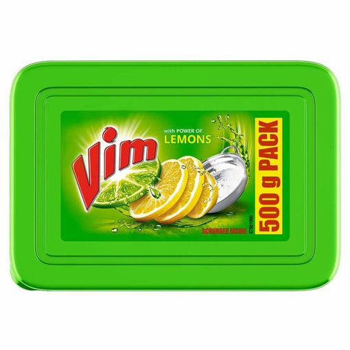 Picture of Vim Dishwash Bar Tub Lemon (500g)+(100g) free With Scrubber free