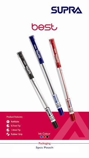 Picture of Supra Best Ball Pen - Blue (Pack Of 5)