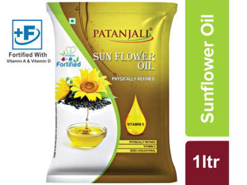 Picture of PATANJALI SUNFLOWER OIL 910g (1 LTR) (POUCH)