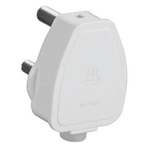 Picture of Anchor Penta 38637 Polycarbonate 3-Pin 16 A Plug Top (White)