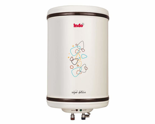 Picture of Indo Super Delux Storage Water Heater with Vertical Metal Body (15 L, Ivory)