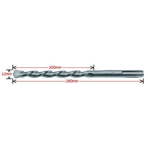 Picture of Makita Bit for SDS-Plus Dia 12 mm x Length 260 mm (D-00240)