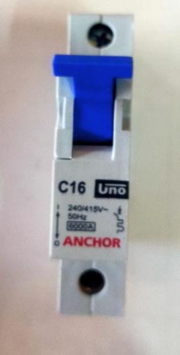 Picture of Anchor Single Pole mcb, C16KA