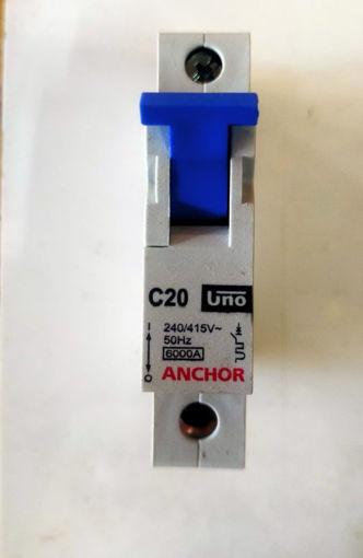 Picture of Anchor Single Pole mcb, C20KA
