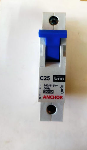 Picture of Anchor Single Pole mcb, C25KA