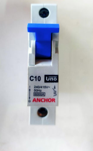 Picture of Anchor Single Pole mcb, C10KA