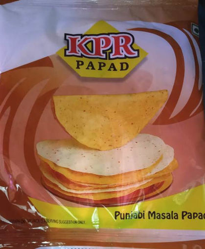 Picture of KPR Moog Urad PUNJABI MASALA PAPAD (200g X 5Pc) Packet