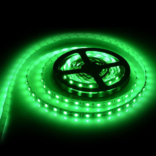 Picture of Non Waterproof LED SMD Strip Light with Driver 12V DC 5 metres Green
