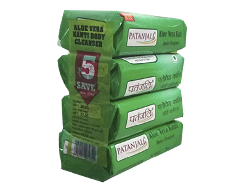 Picture of PATANJALI ALOEVERA KANTI BODY CLEANSER (4x75 GM) 300 GM
