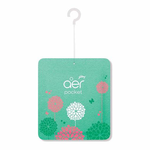Picture of Godrej aer pocket, Bathroom Air Fragrance - Morning Misty Meadows (10g)