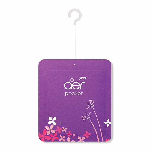 Picture of Godrej Aer Pocket, Bathroom Air Fragrance - Violet Valley Bloom (10 g)