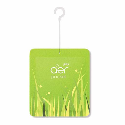 Picture of Godrej aer pocket, Bathroom Air Fragrance - Fresh Lush Green (10g)