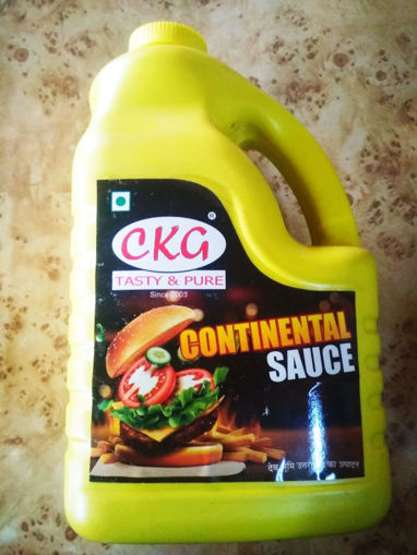 Picture of CKG TASTY & PURE CONTINENTAL SAUCE ( 5 Kg ) Side Handle Jar