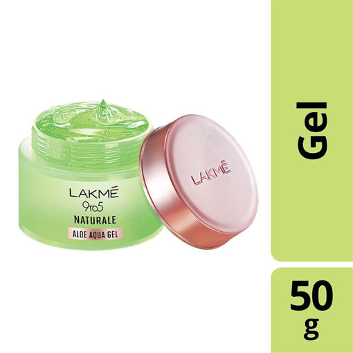 Picture of Lakme 9 To 5 Naturale Aloe Aqua Gel- Non Sticky, Lightweight Gel That Soothes And Hydrates Skin, 50 g