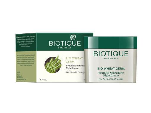 Picture of Biotique Bio Wheat Germ Youtheful Nourishing Night Cream, 50g