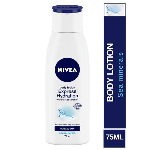 Picture of Nivea Express Hydration Normal Skin Body Lotion with Deep Moisture, 75 ml