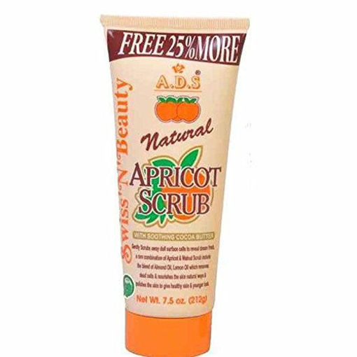 Picture of ADS Natural Apricot Scrub with Soothing Cocoa, 212 g