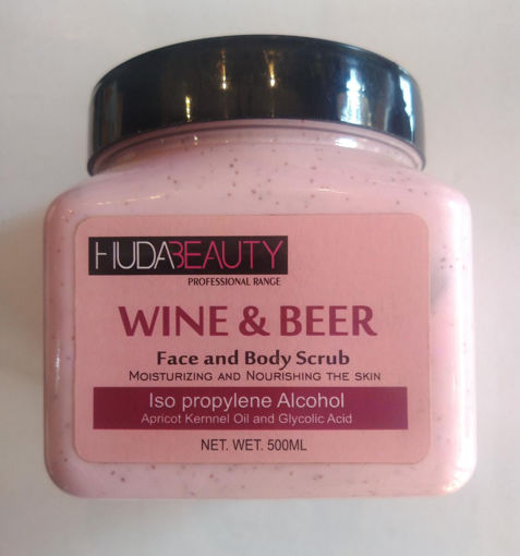 Picture of hudabeauty wine & beer face and body scrub 500 ml