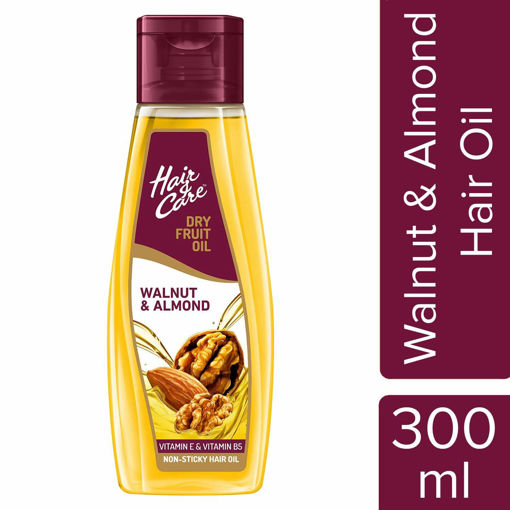 Picture of Hair & Care Dry Fruit Oil with Walnut and Almond 300 ml (Non-Sticky Hair Oil)