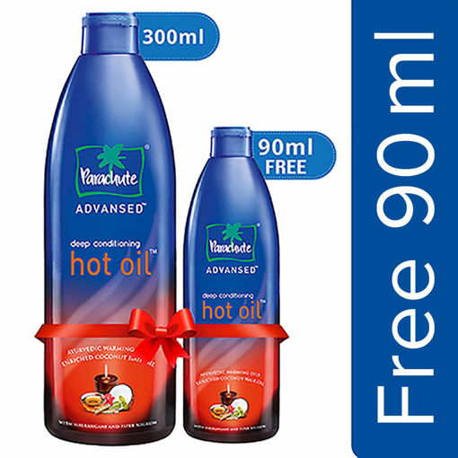 Picture of Parachute Advansed Ayurvedic Hot Oil, 400 ml with Free 90 ml Pack