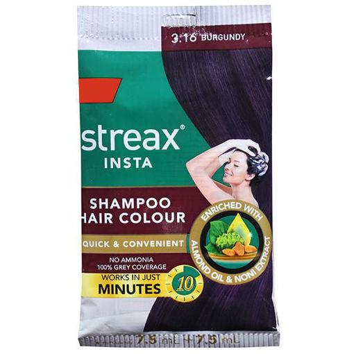 Picture of Streax Shampoo Hair Colour Natural Burgundy 7.5ml+7.5ml