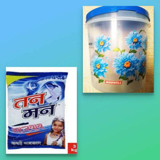 Picture of TanMan LAJAWAB Detergent Powder (5kg) With Free KONTAINER