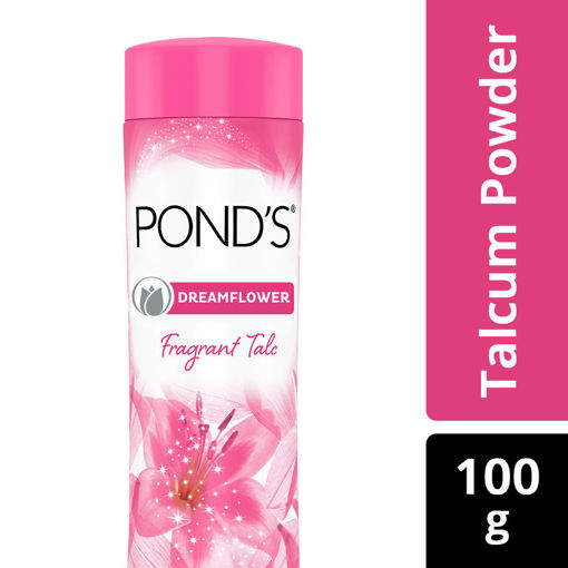 Picture of PONDS DREAMFLOWER fragrant talc Pink Lily Powder, 100g