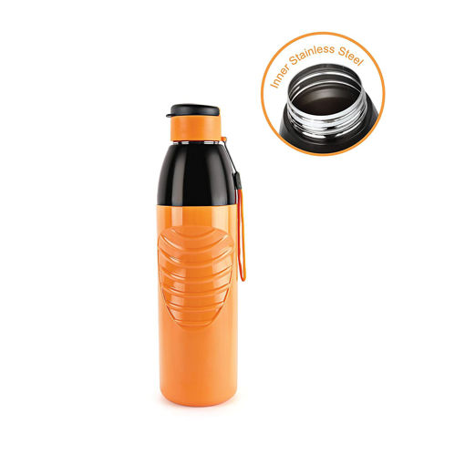 Picture of Cello Puro Steel-X Zen Insulated Bottles with Stainless Steel Inner, 900 ml