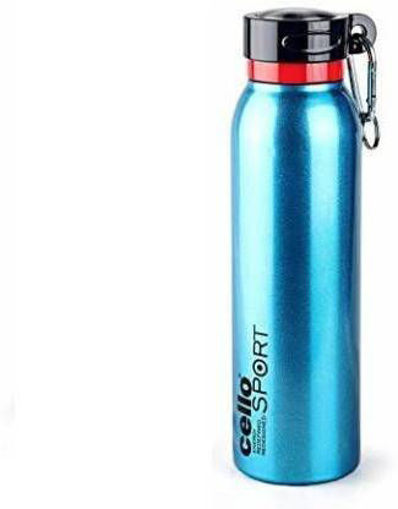 Picture of Cello Beatle Metalics 700 ml Bottle  (Pack of 1, Blue, Steel)