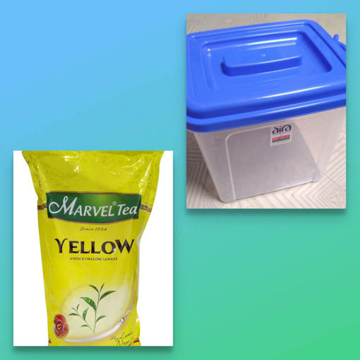Picture of MARVEL Tea YELLOW (1kg) With Free Container
