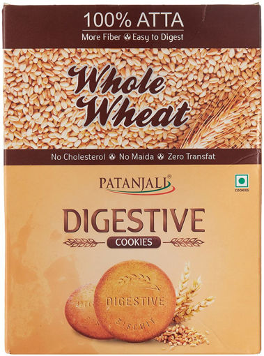 Picture of Patanjali Digestive Whole Wheat Biscuits, 250g