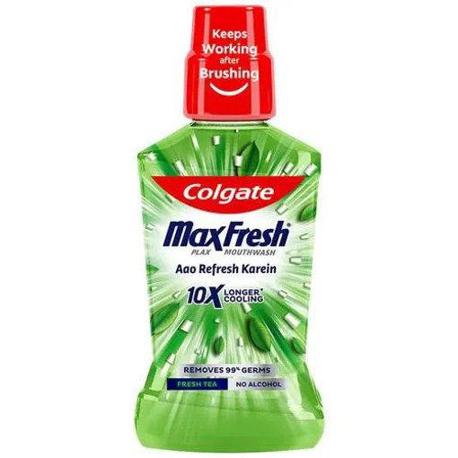 Picture of Colgate Maxfresh - Plax, Mouthwash Aao Refresh karein,Fresh Tea, Alcohol Free, 250 ml