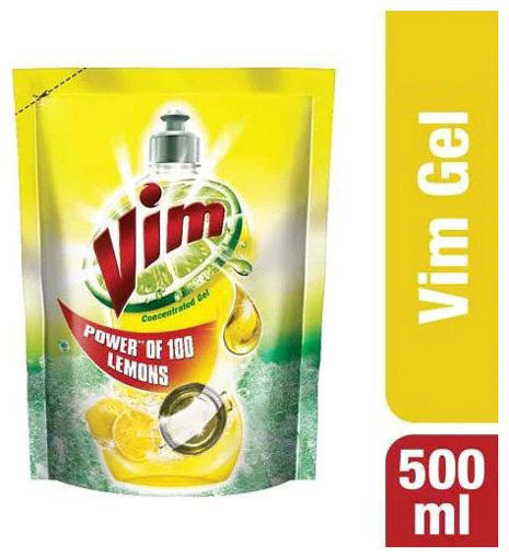 Picture of Vim Lemon Gel Dishwash (Refill) (500 ml) Pouch