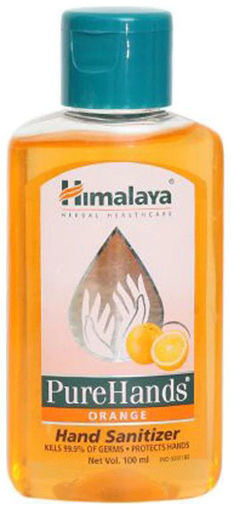 Picture of himalaya pure hands orange hand sanitizer 500ml